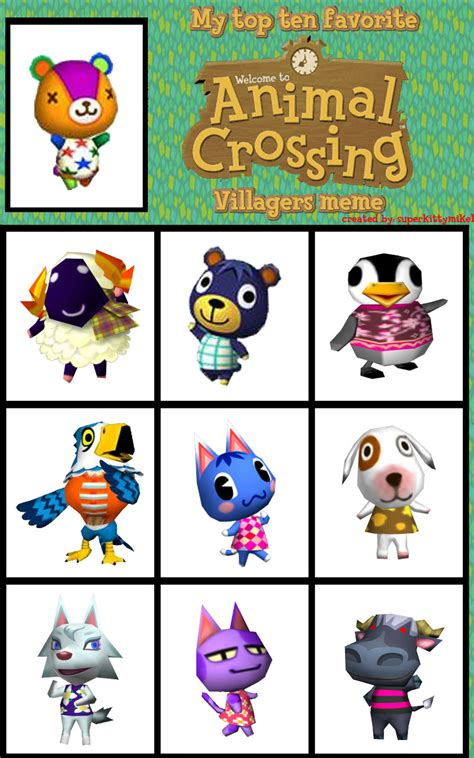 Animal Crossing Villager Meme - top 10 favorite animal crossing villagers meme by
