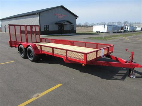 utility landscape custom enclosed and open trailers