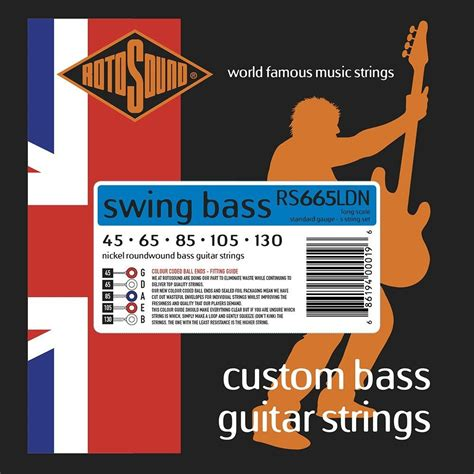 rotosound swing bass strings bass guitar strings gt rotosound rs665ldn swing bass 66