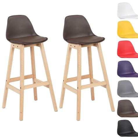 Breakfast Bar Stools With Backs | 2 x bar stools faux leather breakfast with backs luxury