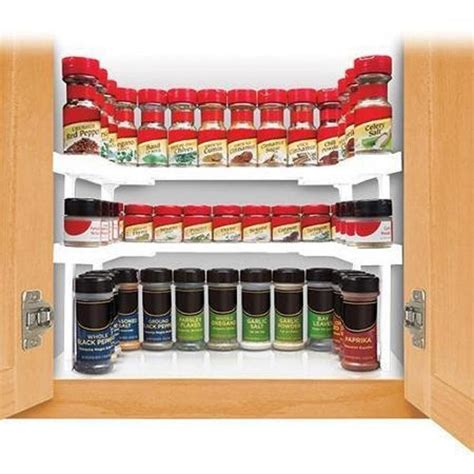 spice cabinet organizer shelf spice rack and stackable shelf living magic store