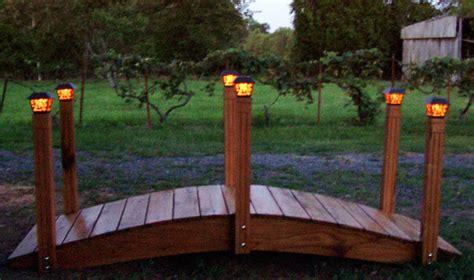 Bridges With Solar Lights Custom Built Solar Lights Landscaping