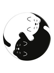 popsockets yin yang kitten phone stand and grip buy online at grindstore com