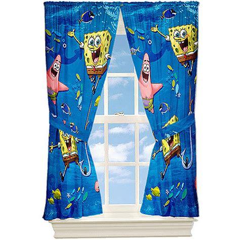 Nickelodeon Spongebob Quot Anchors Away Quot Microfiber Curtain