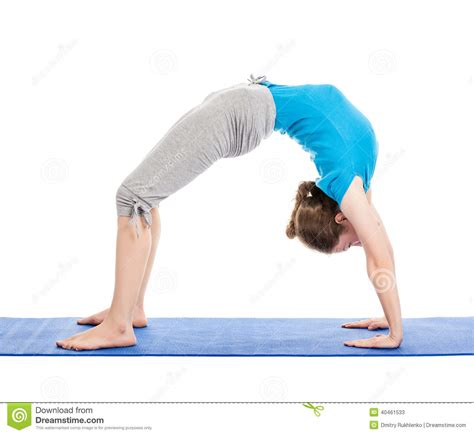 upward bow pose yoga young beautiful woman doing yoga asana excerise