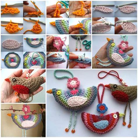 diy lovely crochet birdie decoration