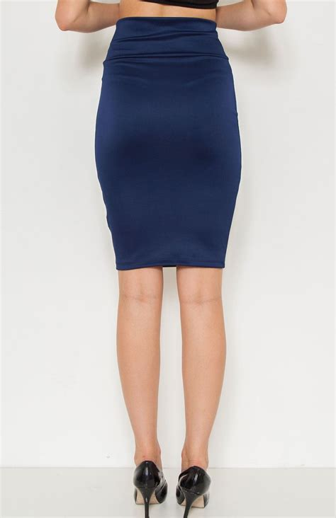 navy blue high waisted skirt redskirtz