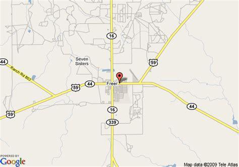 freer texas map map of best western windwood inn freer