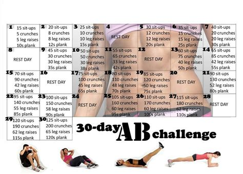 squat challenge and ab challenge 30 day ab and squat challenge