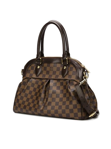 louis vuitton monogram tote  black brown lyst