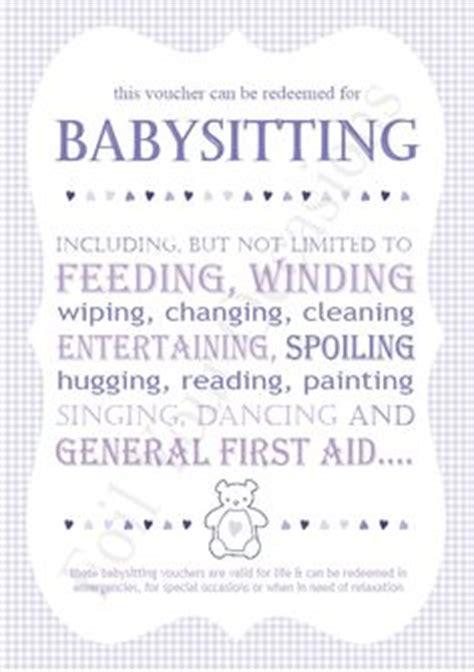 printable gift certificate for babysitting babysitting gift certificate download fully customizable
