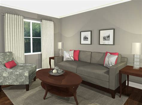 virtual decorating virtual design living room grey pink contemporary