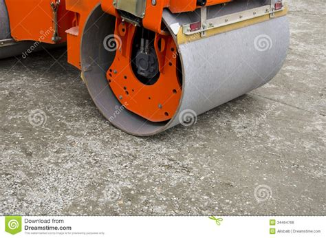 orange park track small road roller on city park track royalty free stock photos image 34464768