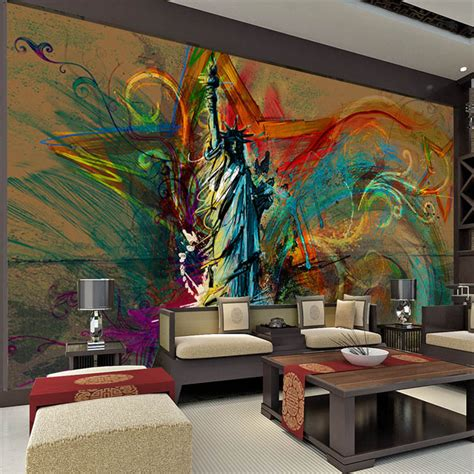 Custom Large Wall Mural Statue Of Liberty Photo Wallpaper Wall Murals For Room