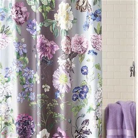 purple floral shower curtain lucky clover purple shower curtain