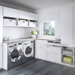 Contemporary inspiration for a contemporary l shaped laundry room remodel in san