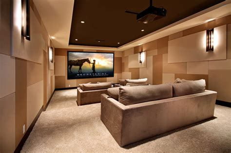 houzz media room snug harbor contemporary home theater orange county
