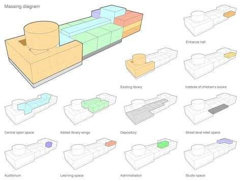 best architecture diagrams 33 best architecture massing studies images on