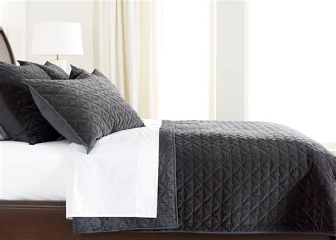 Charcoal Coverlet gresham charcoal velvet coverlet bedding