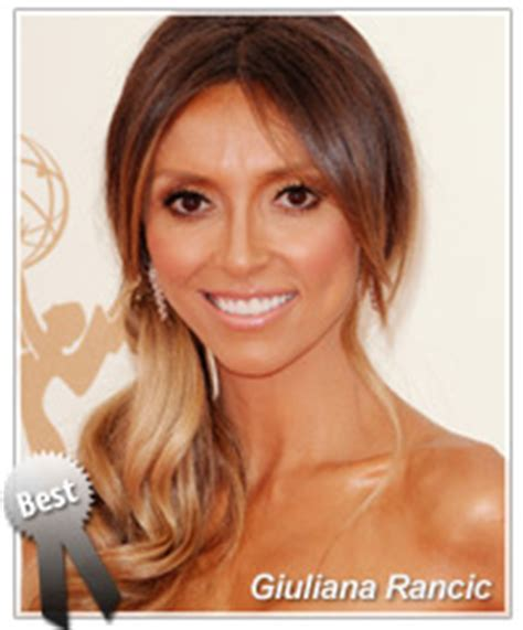 is giuliana rancic is awful celebrity hairstyles best worst 2011 emmy awards
