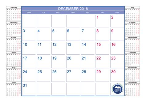printable december calendar with holidays december 2018 calendar with holidays printable 2017