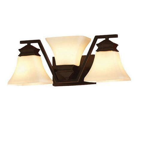 rubbed bronze bathroom lights shop allen roth 3 light rubbed bronze standard
