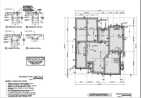 foundation layout exles foundation plan sle construction drawing projects