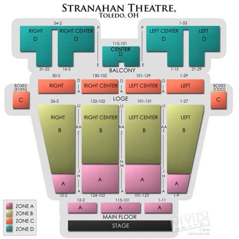 stranahan theatre seating stranahan theatre seating chart seats