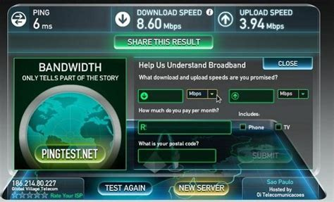 test velox telecom verificar velocidade da intel