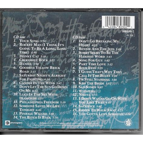 elton best of the best of elton by elton cd x 2 with