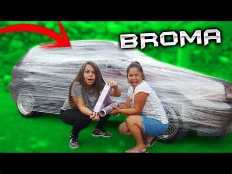 camara oculta hermana mi hermana me llena el coche de papel film broma camara