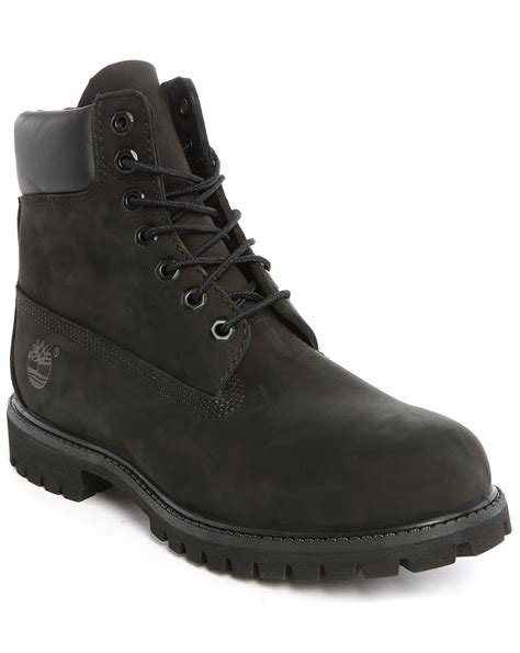 Timberland Boot Nubuck timberland premium black nubuck 6 inch boots in black for