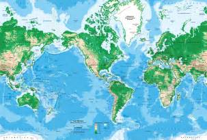 world topography map wall mural miller projection world map mural geographical world map wallpaper