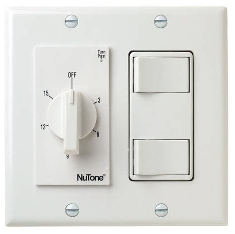bathroom exhaust fan control switch nutone vs69wh white 15 minute bath fan timer switch with