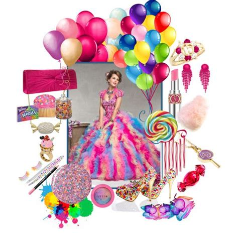 candyland themed quinceanera dress quot colorful candyland theme quot by quincecandles on polyvore