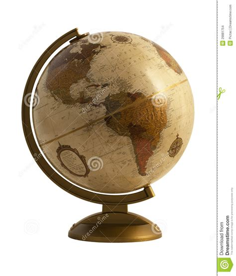 antique globe l antique globe on white stock photo image of southeast