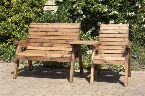 wooden garden table bench seats uk made fully assembled heavy duty wooden garden love seat