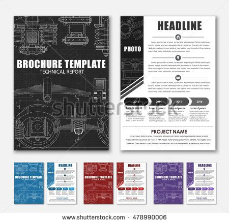 Technical Brochure Template by Car Engine Line Drawing Stock Images Royalty Free Images