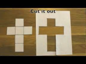 How To Make A Cube Template by How To Make A Cube Out Of A Sheet Of Paper