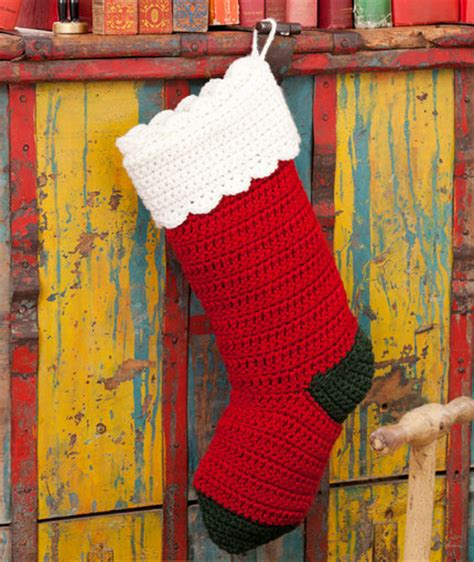 red heart christmas stocking pattern