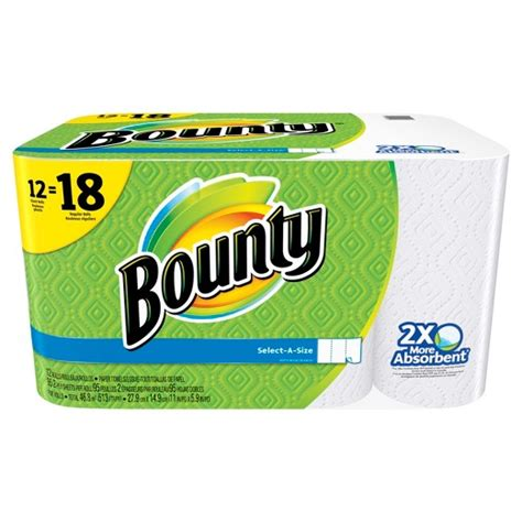 Who Makes Bounty Paper Towels - bounty select a size white paper towels 12 rolls