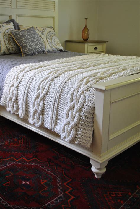 cable knit king size blanket chunky cable knit blanket in made by