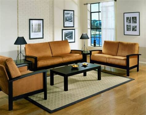 wooden sofa sets for living room get simple wood sofa sets for your living room house decoration ideas