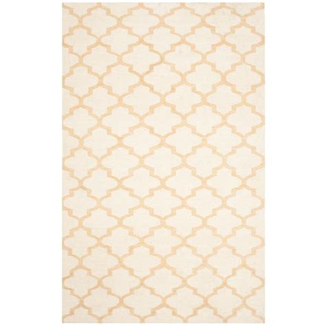 gold and rug safavieh dhurries ivory gold 5 ft x 8 ft area rug