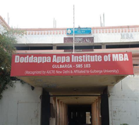 Institut Mba by Doddappa Appa Institute Of Mba Gulbarga Faculty