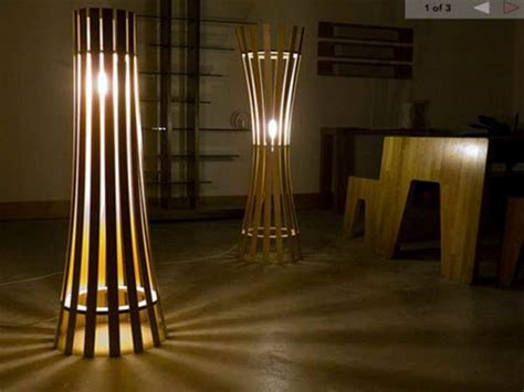 Bloombety : Floor Lamp With Shelves With Bamboo Material