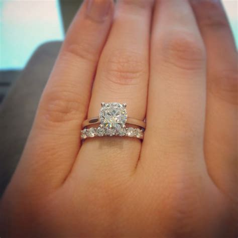 Wedding Bands With Solitaire by 25 Best Ideas About Solitaire Engagement Rings On