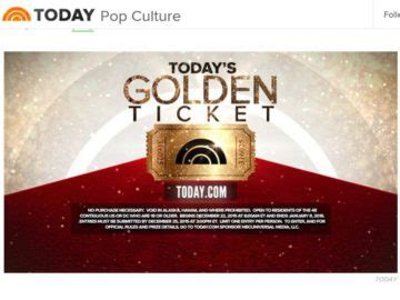 Todays Sweepstakes - today s golden ticket sweepstakes