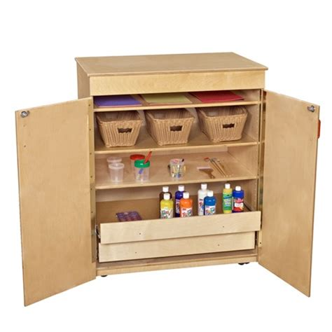 wood designs mobile storage cabinet w drawers inside