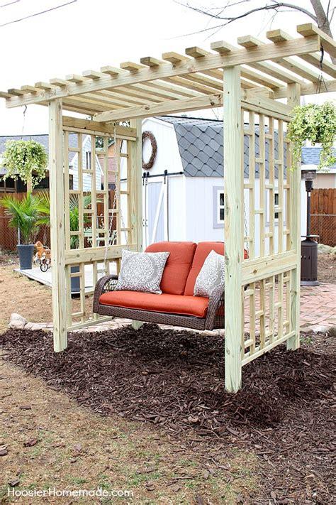 Garden Swing Plans for the Backyard   Hoosier Homemade